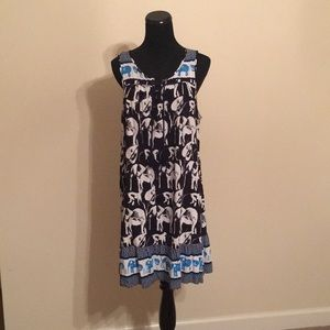 Crown and Ivy Elephant print swing dress Size XL